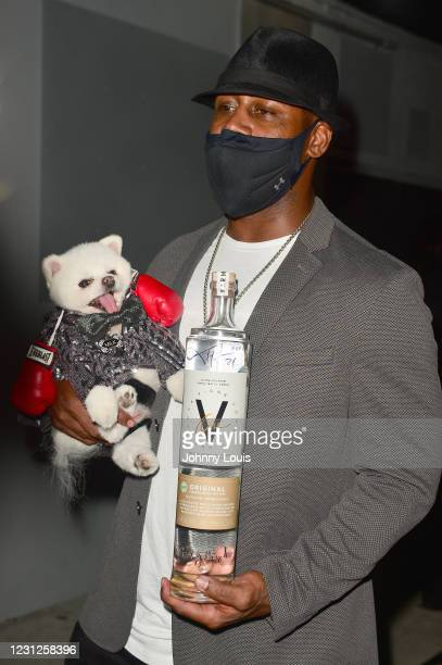 Ty Law, former NFL player and MILK the Pom Star attend Futuristic-themed Birthday Party for 50 time Champion Boxer Floyd Mayweather 44th Birthday...