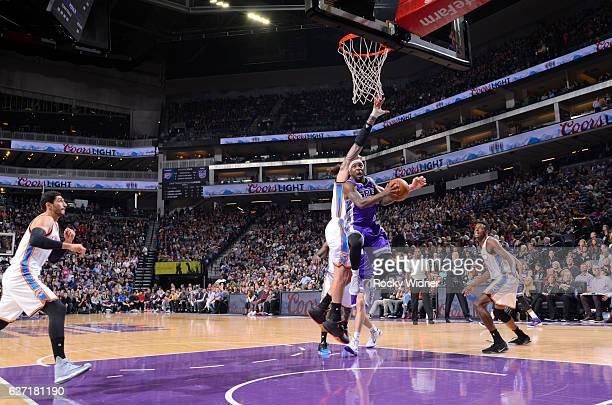 Ty Lawson of the Sacramento Kings goes up for the shot against the Oklahoma City Thunder on November 23 2016 at Golden 1 Center in Sacramento...