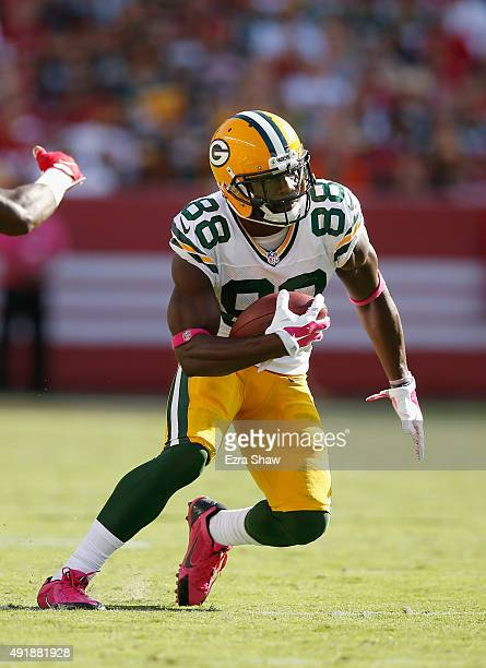 Ty Montgomery of the Green Bay Packers in action against the San Francisco 49ers at Levi's Stadium on October 4 2015 in Santa Clara California