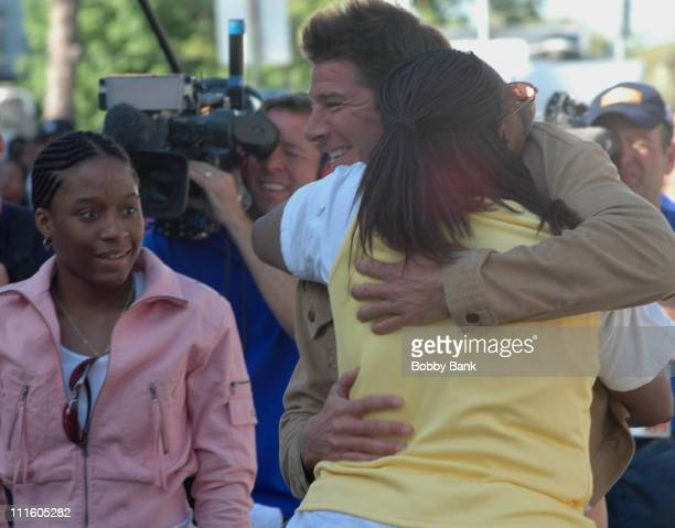 Ty Pennington and Beverly Turner during On Location for Extreme Makeover Home Edition April 30 2006 at Beverly Turner Family Residence in Irvington...
