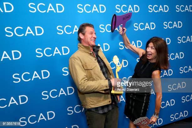Ty Pennington and Hildi SantoTomas attend the Spotlight Award Presentation on Day 2 of the SCAD aTVfest 2018 on February 2 2018 in Atlanta Georgia
