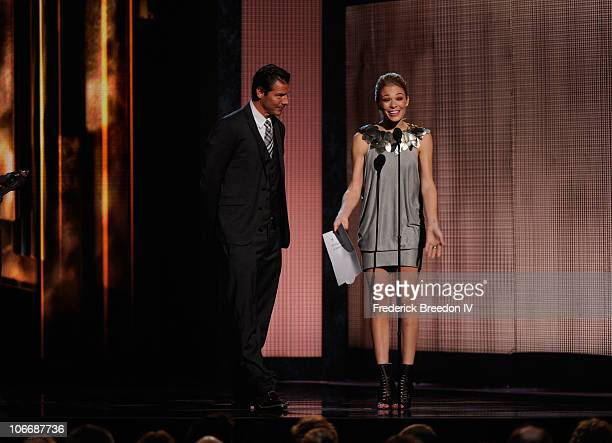 Ty Pennington and LeAnn Rimes speak onstage at the 44th Annual CMA Awards at the Bridgestone Arena on November 10 2010 in Nashville Tennessee