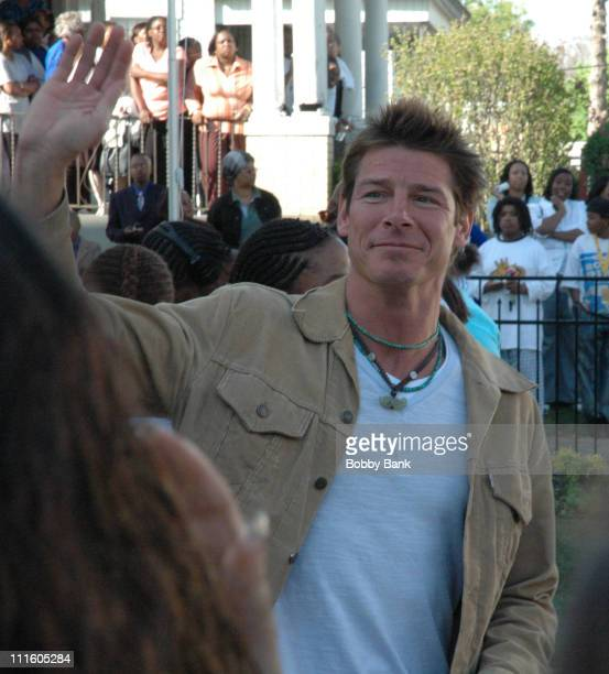 Ty Pennington during On Location for Extreme Makeover Home Edition April 30 2006 at Beverly Turner Family Residence in Irvington New Jersey United...