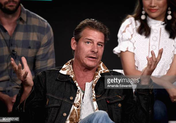 Ty Pennington of 'Trading Spaces' onstage during the TLC portion of the Discovery Communications Winter TCA Event 2018 at the Langham Hotel on...