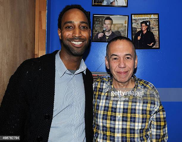 Ty Raney and Gilbert Gottfried backstage at The Stress Factory Comedy Club on November 25 2015 in New Brunswick New Jersey