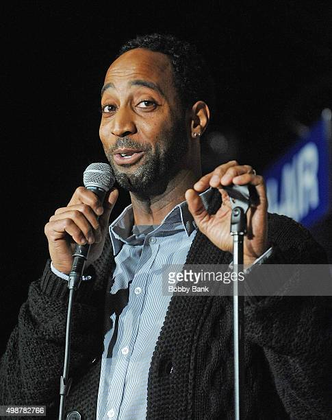 Ty Raney performs at The Stress Factory Comedy Club on November 25 2015 in New Brunswick New Jersey