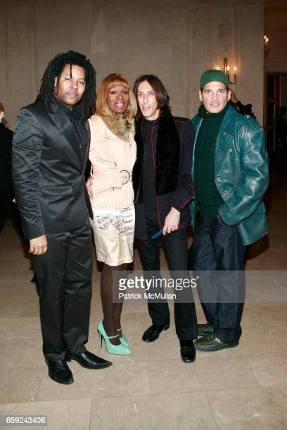 Ty Ron Mayes CoCo Johnsen Richard Tricomi and Phillip Bloch attend LUCA LUCA Fall 2009 Collection Presentation at The Plaza Hotel on February 16 2009...