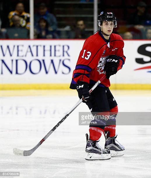 Ty Ronning of Team Cherry skates up ice during the CHL/NHL Top Prospects Game January 28 2016 at Pacific Coliseum in Vancouver British Columbia Canada