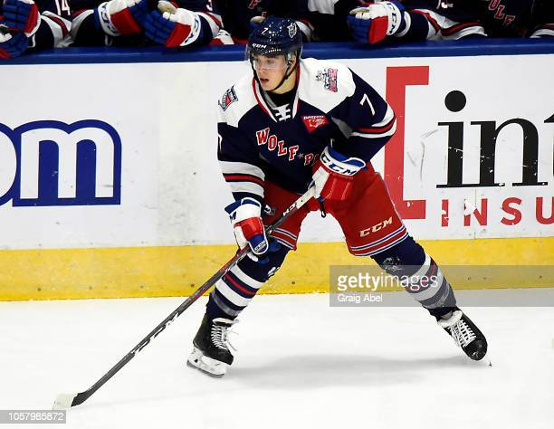 Ty Ronning of the Hartford Wolf Pack watches the play develop against the Toronto Marlies during AHL game action on October 20 2018 at CocaCola...