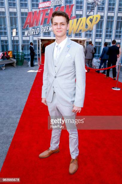Ty Simpkins attends the premiere of Disney And Marvel's 'AntMan And The Wasp' on June 25 2018 in Hollywood California