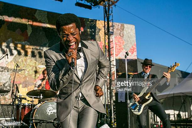 Ty Taylor and Nalle Colt of Vintage Trouble perform live at Bumbershoot at Seattle Center on September 1 2013 in Seattle Washington
