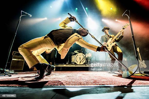 Ty Taylor and Richard Danielson of Vintage Trouble perform at The Forum on November 17 2015 in London England