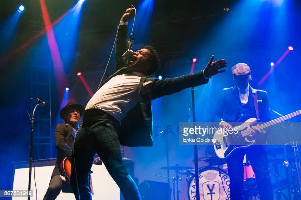 Ty Taylor of Vintage Trouble performs during the 2017 Voodoo Music Arts Experience at City Park on October 28 2017 in New Orleans Louisiana
