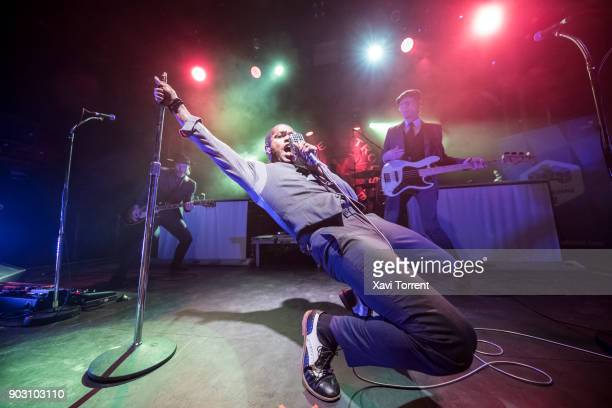 Ty Taylor of Vintage Trouble performs in concert at Apolo during Festival Milleni on January 9 2018 in Barcelona Spain