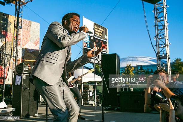 Ty Taylor of Vintage Trouble performs live at Bumbershoot at Seattle Center on September 1 2013 in Seattle Washington