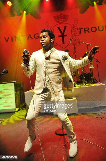 Ty Taylor of Vintage Trouble performs live on stage at Shepherd's Bush Empire on June 8 2017 in London England