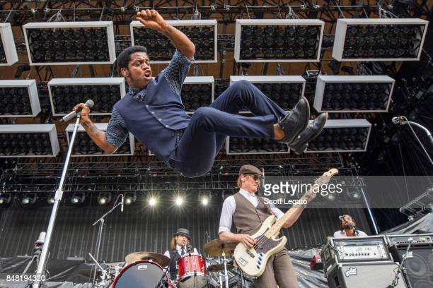 Ty Taylor Richard Danielson and Rick Barrio Dill of Vintage Trouble perform during Day 1 of Music Midtown at Piedmont Park on September 16 2017 in...