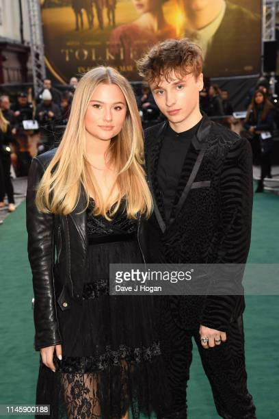 Ty Tennant and Lola Thatcher attend the Tolkien UK premiere at The Curzon Mayfair on April 29 2019 in London England