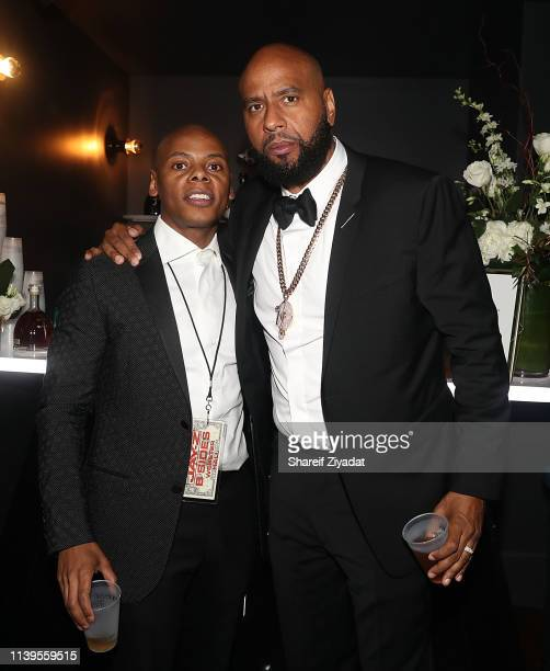 Ty Ty Smith and OG Juan Perez attend JayZ Performs At Webster Hall Backstage at Webster Hall on April 26 2019 in New York City
