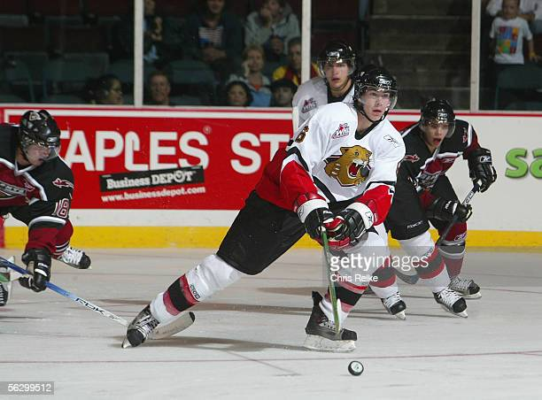 Ty Wishart of the Prince George Cougars skates against the Vancouver Giants during the WHL hockey game on September 30 2005 at Pacific Coliseum in...