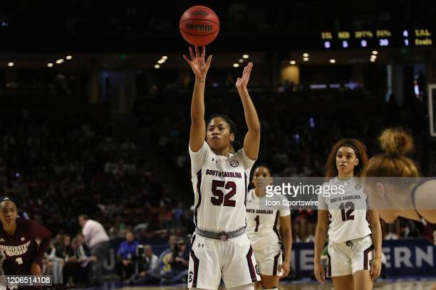 Tyasha Harris of South Carolina during the SEC Championship Women's college basketball game between the Mississippi State Bulldogs and the South...