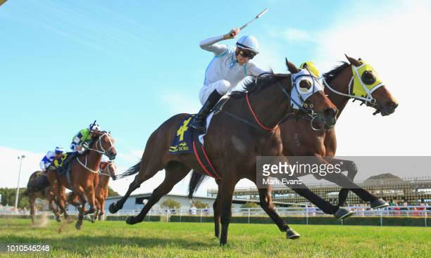 Tye Angland on Red Alto wins race 3 during Sydney Racing at Royal Randwick Racecourse on August 4, 2018 in Sydney, Australia.
