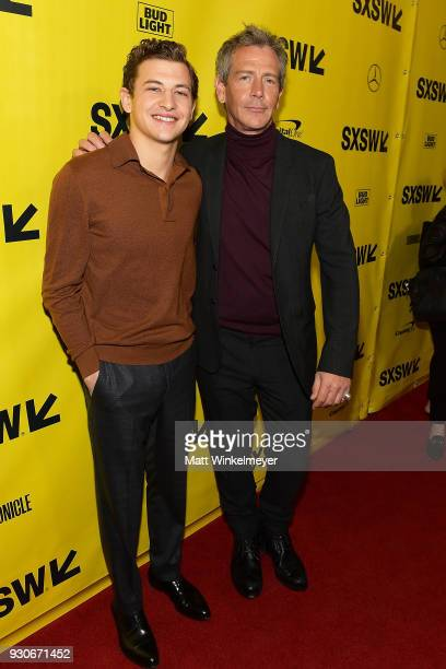 Tye Sheridan and Ben Mendelsohn attend 'Ready Player One' Premiere 2018 SXSW Conference and Festivals at Paramount Theatre on March 11 2018 in Austin...