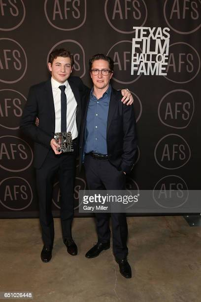 Tye Sheridan and David Gordon Green attend the Austin Film Society's Texas Film Awards at Austin Studios on March 9 2017 in Austin Texas