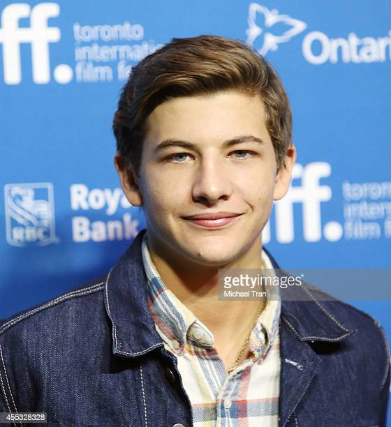Tye Sheridan arrives at the photocall of The Forger held during the 2014 Toronto International Film Festival Day 9 on September 12 2014 in Toronto...