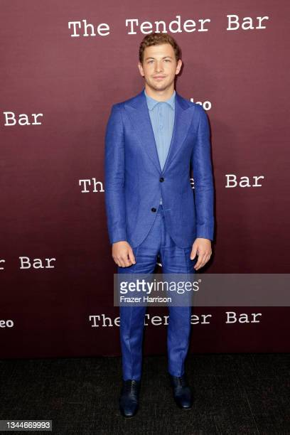 """Tye Sheridan attends the Los Angeles Premiere of """"The Tender Bar"""" presented by Amazon Studios at DGA Theater Complex on October 03, 2021 in Los..."""