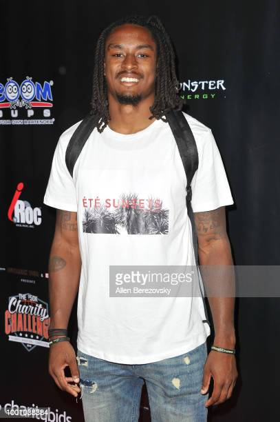 Tye Smith attends Monster Energy Outbreak $50K Charity Challenge celebrity basketball game at UCLA on July 17 2018 in Los Angeles California