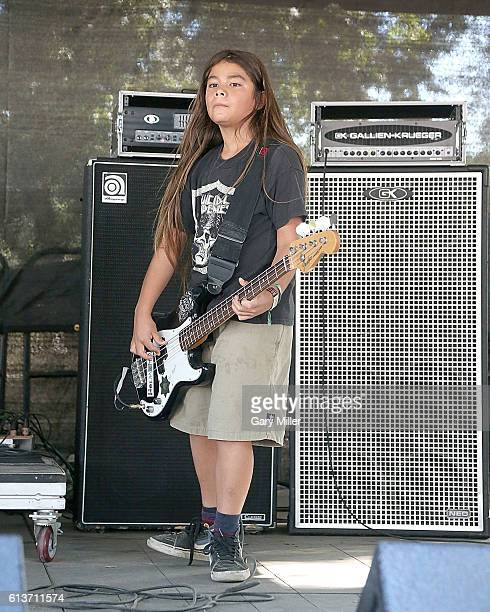 Tye Trujillo of The Helmets performs in concert during the Austin City Limits Music Festival at Zilker Park on October 9 2016 in Austin Texas