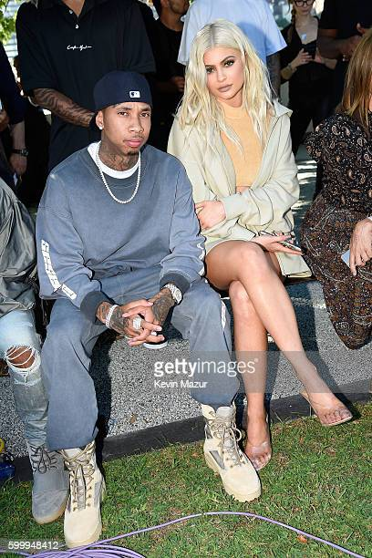 Tyga and Kylie Jenner attend the Kanye West Yeezy Season 4 fashion show on September 7 2016 in New York City