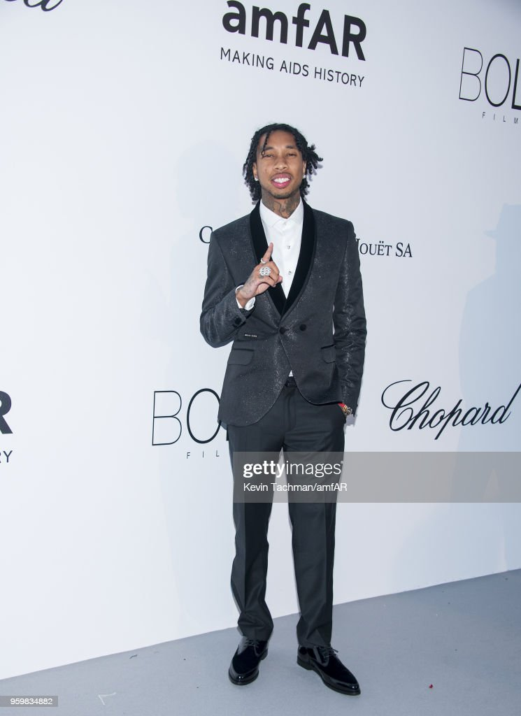 Tyga arrives at the amfAR Gala Cannes 2018 at Hotel du Cap-Eden-Roc on May 17, 2018 in Cap d'Antibes, France.