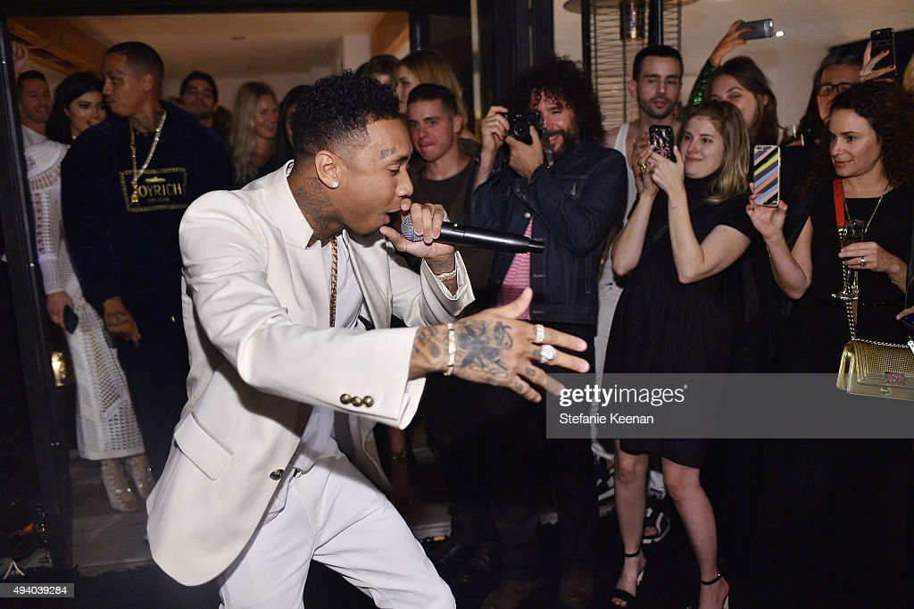Tyga attends Olivier Rousteing & Beats Celebrate In Los Angeles at Private Residence on October 23, 2015 in Los Angeles, California.