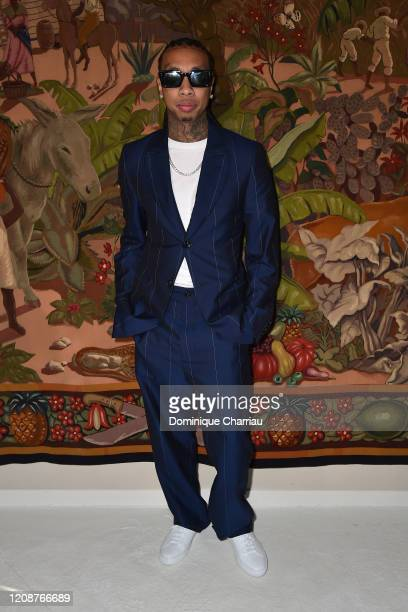 Tyga attends the Lanvin show as part of the Paris Fashion Week Womenswear Fall/Winter 2020/2021 on February 26, 2020 in Paris, France.