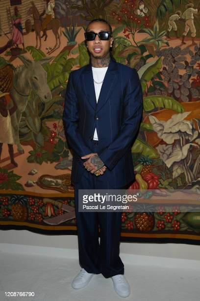 Tyga attends the Lanvin show as part of the Paris Fashion Week Womenswear Fall/Winter 2020/2021 on February 26 2020 in Paris France