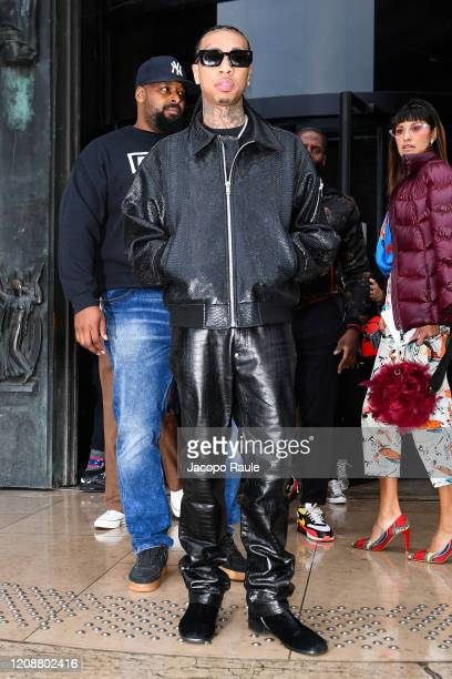Tyga attends the Mugler show as part of the Paris Fashion Week Womenswear Fall/Winter 2020/2021 on February 26 2020 in Paris France