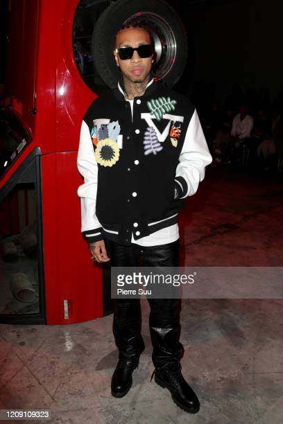 Tyga attends the OffWhite show as part of the Paris Fashion Week Womenswear Fall/Winter 2020/2021 on February 27 2020 in Paris France