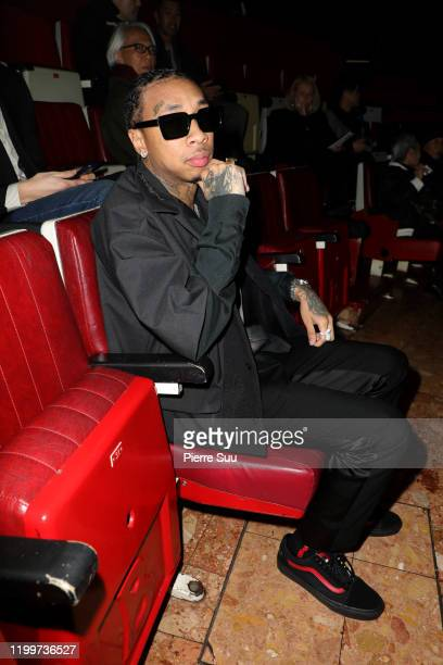 Tyga attends the Undercover Menswear Fall/Winter 2020-2021 show as part of Paris Fashion Week on January 15, 2020 in Paris, France.