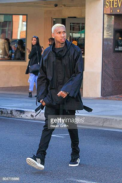Tyga is seen on January 12 2016 in Los Angeles California