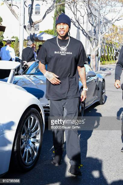 Tyga is seen on January 26 2018 in Los Angeles California