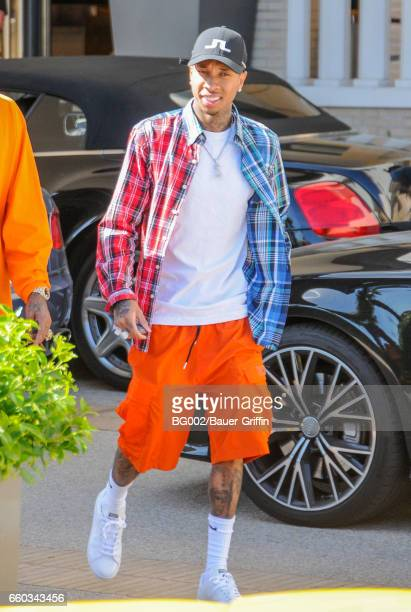 Tyga is seen on March 29 2017 in Los Angeles California