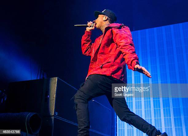 Tyga performs at Joe Louis Arena on February 15 2015 in Detroit Michigan
