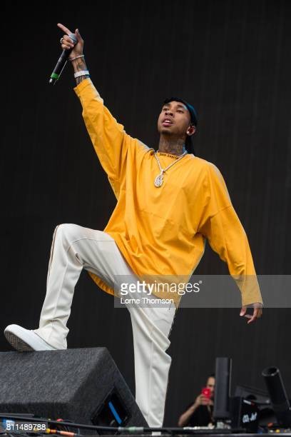 Tyga performs during Day 3 of the Wireless Festival at Finsbury Park on July 9 2017 in London England