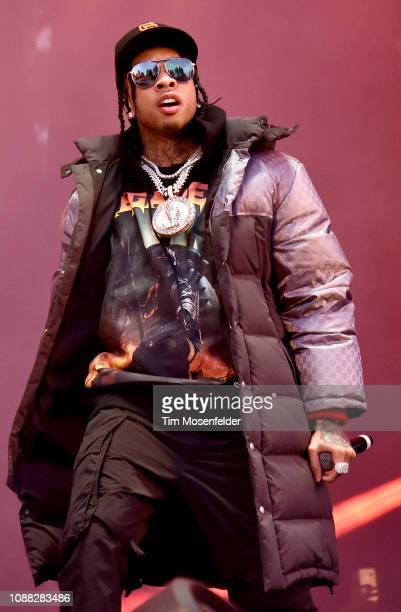 Tyga performs during the 2018 SnowGlobe Music Festival on December 30 2018 in South Lake Tahoe California