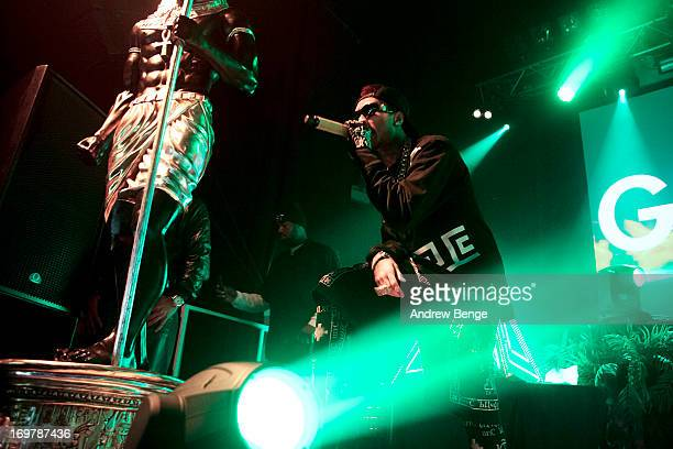 Tyga performs on stage at The Ritz, Manchester on June 1, 2013 in Manchester, England.