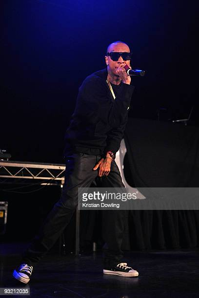 Tyga performs onstage during the LA leg of Chris Brown's Fan Appreciation Tour at the Avalon on November 18 2009 in Hollywood California