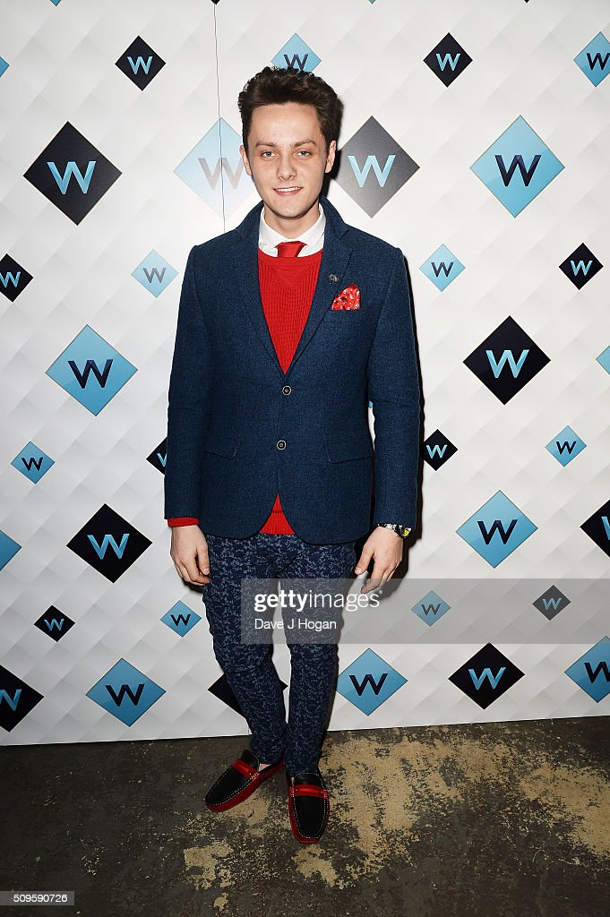 Tyger Drew-Honey attends a celebration of the new TV channel 'W,' launching on Monday 15th February, at Union Street Cafe on February 11, 2016 in London, England.