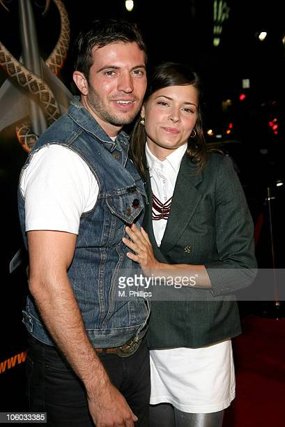 Tygh Runyan and Sarah Lind during Snakes on a Plane Los Angeles Premiere Red Carpet at Grauman's Chinese Theater in Hollywood California United States